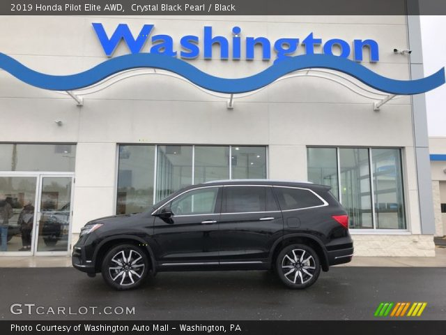 2019 Honda Pilot Elite AWD in Crystal Black Pearl