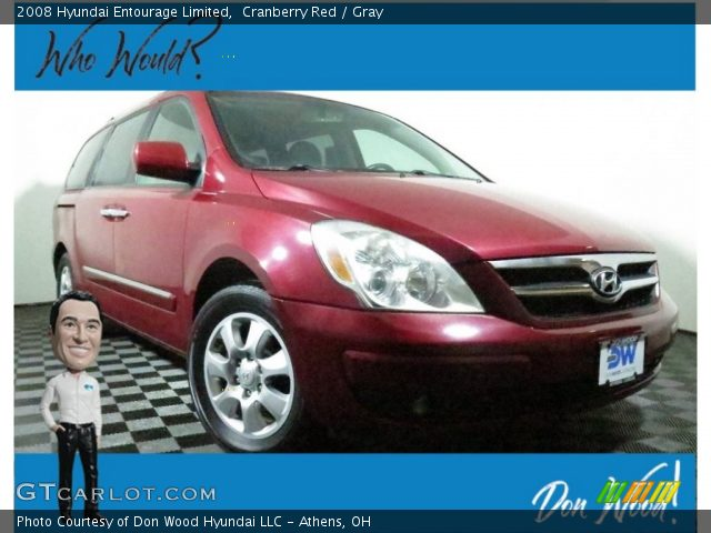 2008 Hyundai Entourage Limited in Cranberry Red