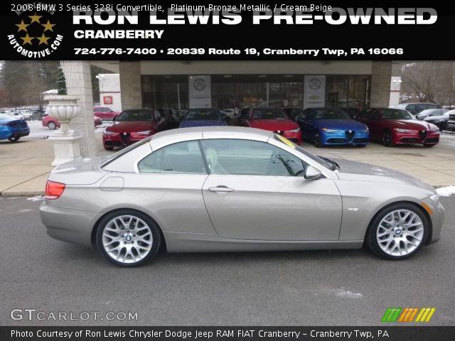 2008 BMW 3 Series 328i Convertible in Platinum Bronze Metallic