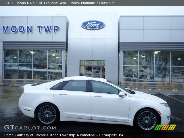 2013 Lincoln MKZ 2.0L EcoBoost AWD in White Platinum