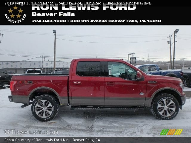 2019 Ford F150 King Ranch SuperCrew 4x4 in Ruby Red