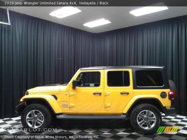 2019 Jeep Wrangler Unlimited Sahara 4x4 in Hellayella