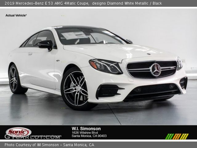 2019 Mercedes-Benz E 53 AMG 4Matic Coupe in designo Diamond White Metallic