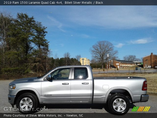 2019 Ram 1500 Laramie Quad Cab 4x4 in Billett Silver Metallic