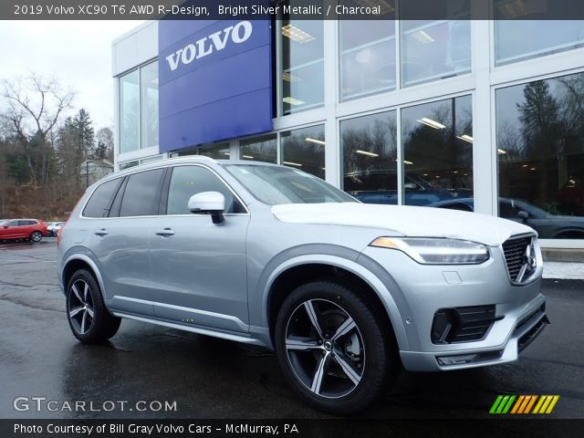 2019 Volvo XC90 T6 AWD R-Design in Bright Silver Metallic