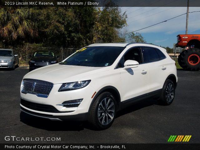 2019 Lincoln MKC Reserve in White Platinum