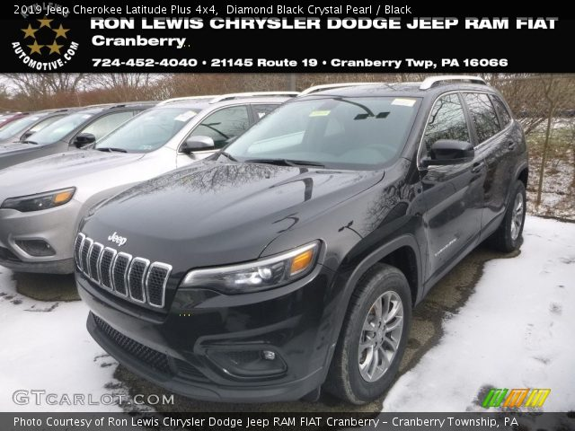 2019 Jeep Cherokee Latitude Plus 4x4 in Diamond Black Crystal Pearl