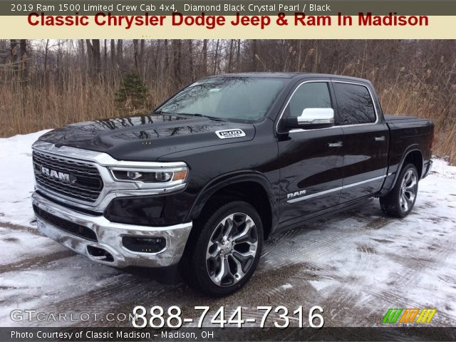 2019 Ram 1500 Limited Crew Cab 4x4 in Diamond Black Crystal Pearl
