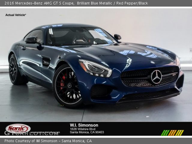 2016 Mercedes-Benz AMG GT S Coupe in Brilliant Blue Metallic