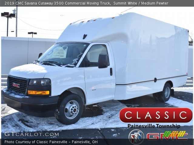 2019 GMC Savana Cutaway 3500 Commercial Moving Truck in Summit White