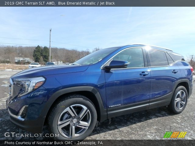 Blue Emerald Metallic 2019 Gmc Terrain Slt Awd Jet Black
