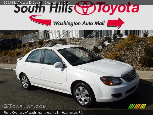 2009 Kia Spectra EX Sedan in Clear White