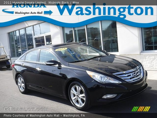 2011 Hyundai Sonata Limited in Midnight Black
