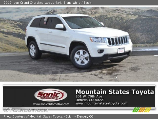 2012 Jeep Grand Cherokee Laredo 4x4 in Stone White
