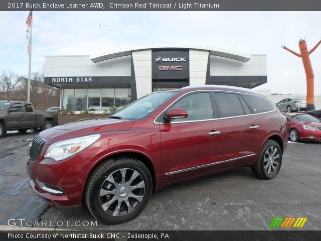 2017 Buick Enclave Leather AWD in Crimson Red Tintcoat
