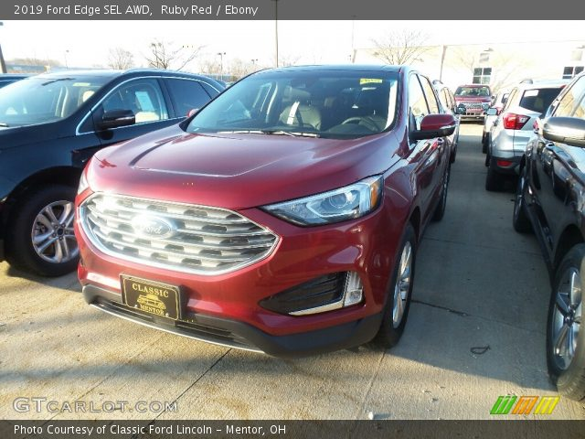 2019 Ford Edge SEL AWD in Ruby Red