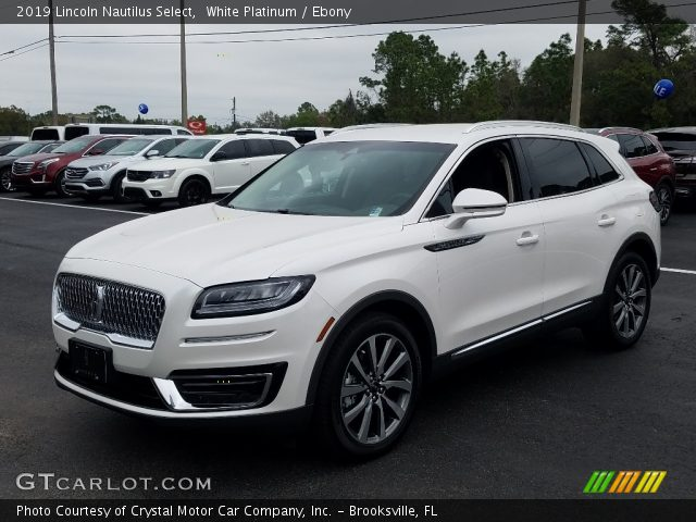 2019 Lincoln Nautilus Select in White Platinum