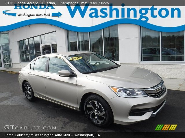 2016 Honda Accord LX Sedan in Champagne Frost Pearl