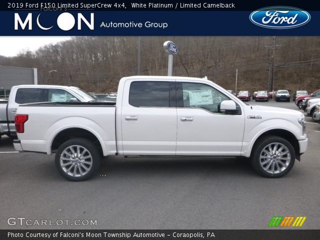 2019 Ford F150 Limited SuperCrew 4x4 in White Platinum