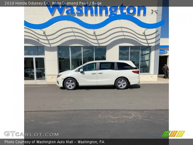 2019 Honda Odyssey EX in White Diamond Pearl