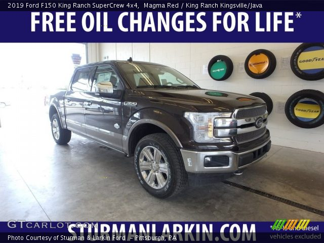2019 Ford F150 King Ranch SuperCrew 4x4 in Magma Red
