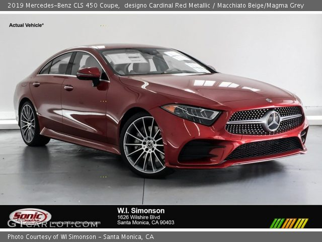 2019 Mercedes-Benz CLS 450 Coupe in designo Cardinal Red Metallic