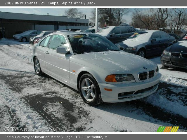 alpine white 2002 bmw 3 series 325i coupe black. Black Bedroom Furniture Sets. Home Design Ideas