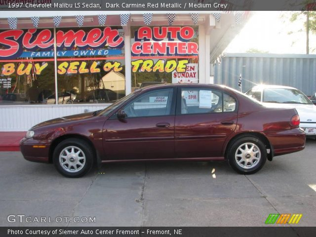 dark carmine red metallic 1997 chevrolet malibu ls sedan medium grey interior. Black Bedroom Furniture Sets. Home Design Ideas