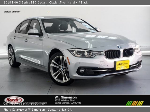 2018 BMW 3 Series 330i Sedan in Glacier Silver Metallic