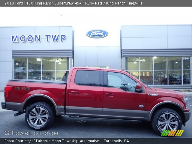 2018 Ford F150 King Ranch SuperCrew 4x4 in Ruby Red