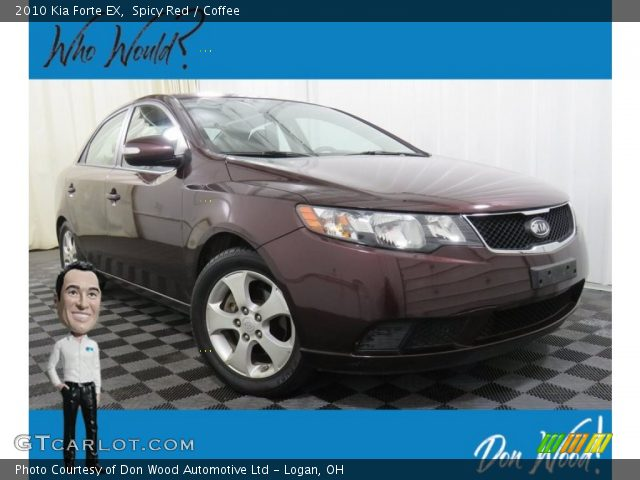 2010 Kia Forte EX in Spicy Red