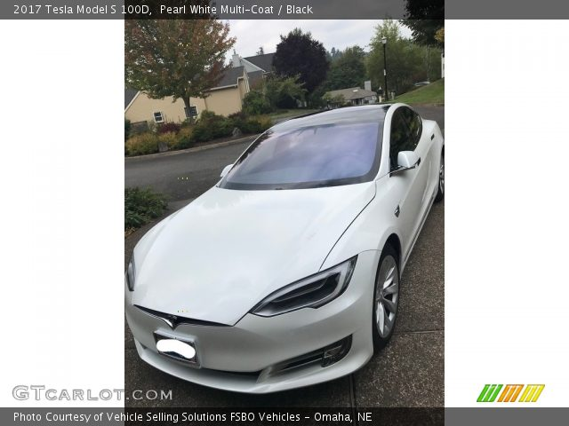 2017 Tesla Model S 100D in Pearl White Multi-Coat