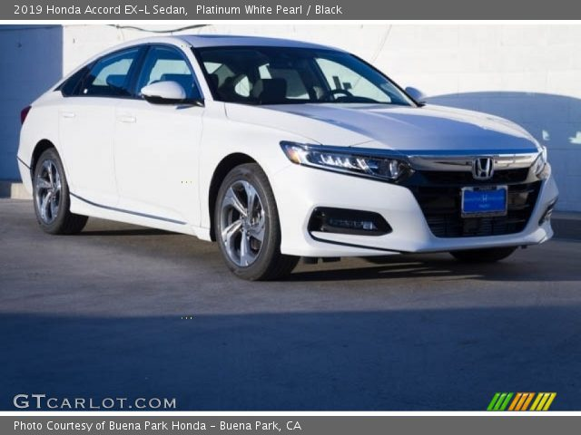 2019 Honda Accord EX-L Sedan in Platinum White Pearl