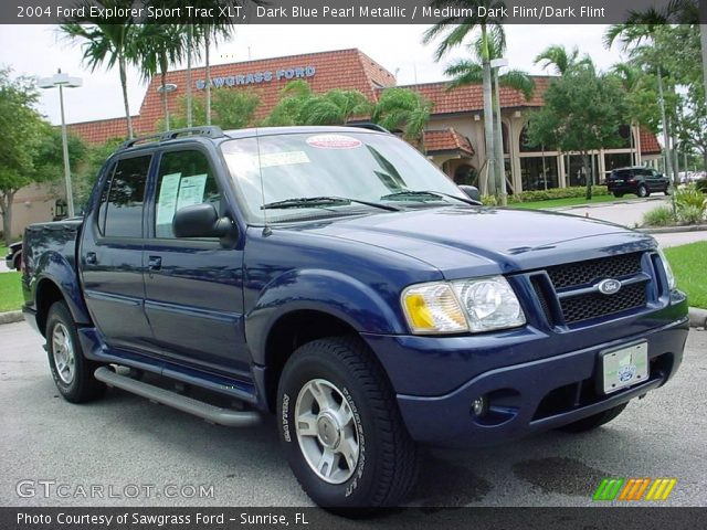 dark blue pearl metallic 2004 ford explorer sport trac xlt medium dark flint dark flint. Black Bedroom Furniture Sets. Home Design Ideas