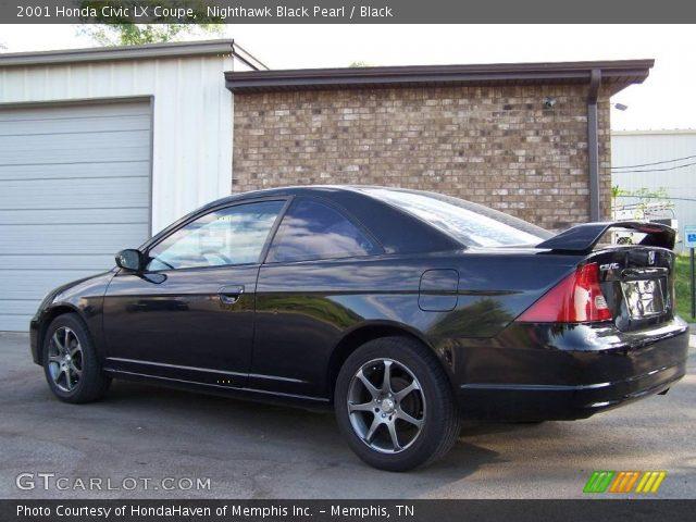 nighthawk black pearl 2001 honda civic lx coupe black interior vehicle. Black Bedroom Furniture Sets. Home Design Ideas