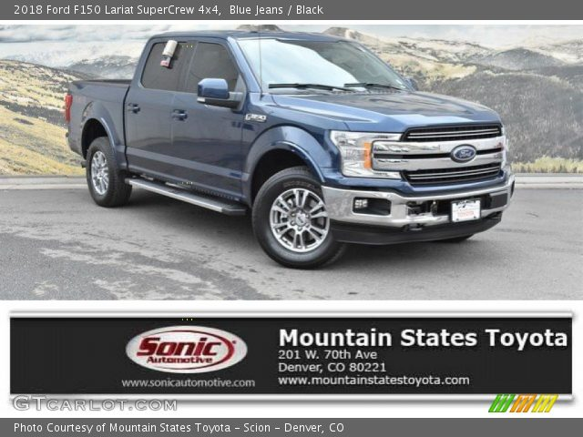 2018 Ford F150 Lariat SuperCrew 4x4 in Blue Jeans
