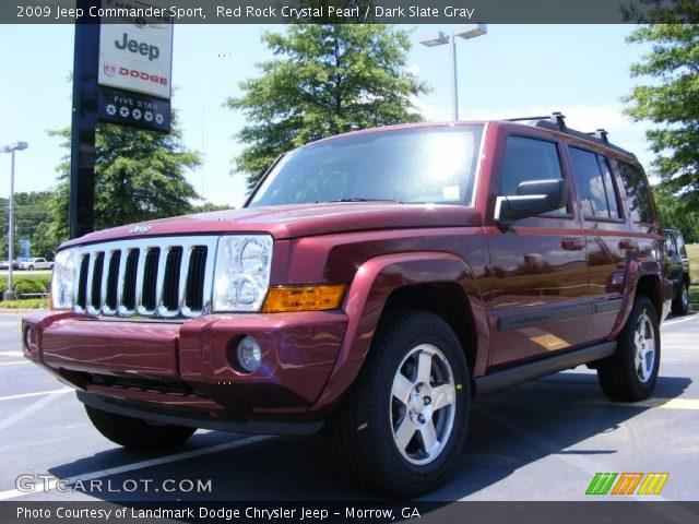 red rock crystal pearl 2009 jeep commander sport dark. Black Bedroom Furniture Sets. Home Design Ideas