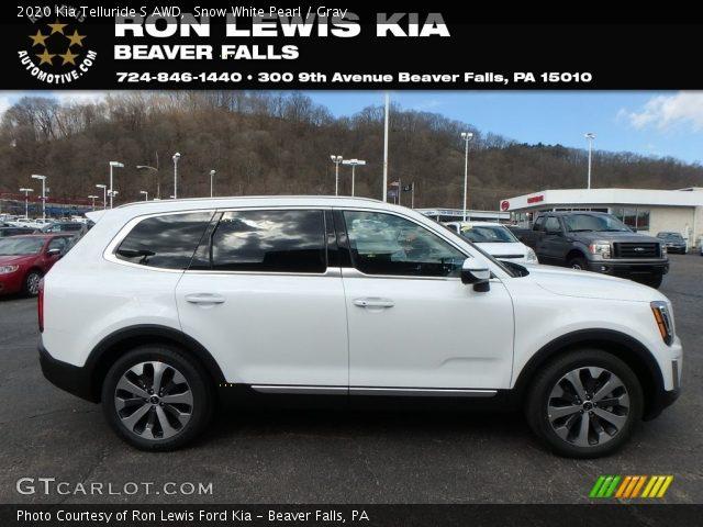 2020 Kia Telluride S AWD in Snow White Pearl