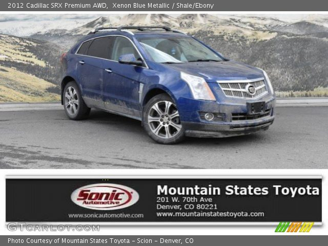 2012 Cadillac SRX Premium AWD in Xenon Blue Metallic
