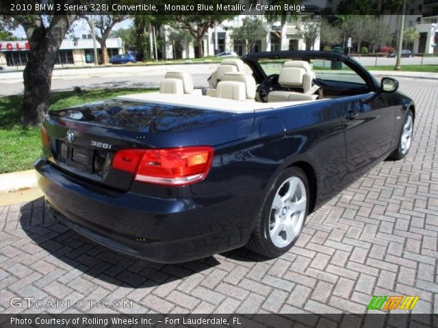 2010 BMW 3 Series 328i Convertible in Monaco Blue Metallic