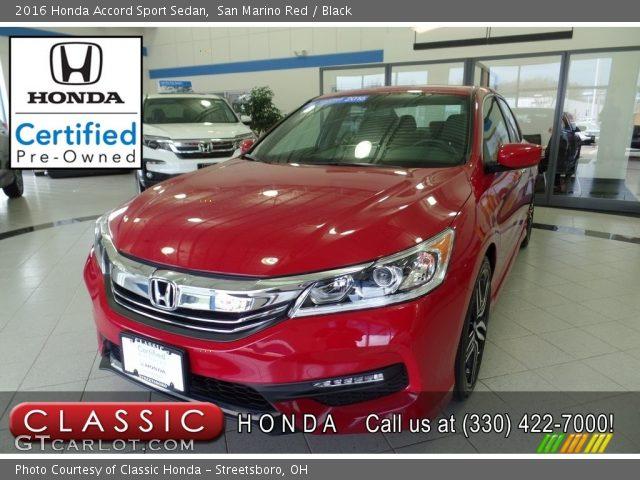 2016 Honda Accord Sport Sedan in San Marino Red
