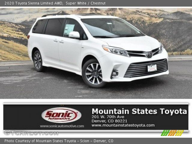 super white 2020 toyota sienna limited awd chestnut interior gtcarlot com vehicle archive 133146460 gtcarlot com