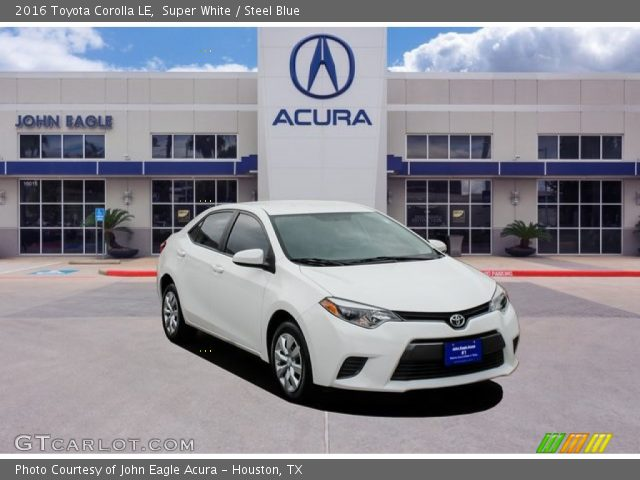 2016 Toyota Corolla LE in Super White