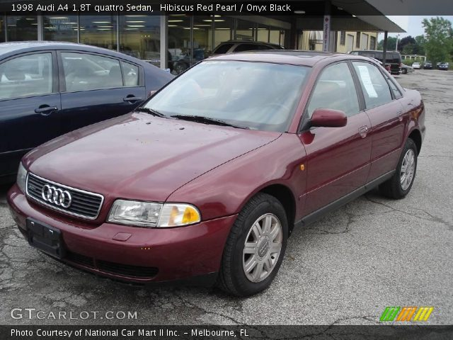 1998 Audi A4 1.8T quattro Sedan in Hibiscus Red Pearl. Click to see ...