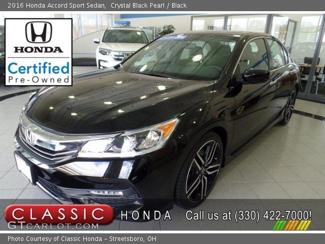 2016 Honda Accord Sport Sedan in Crystal Black Pearl