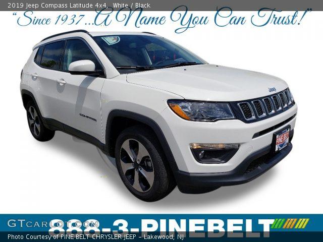 2019 Jeep Compass Latitude 4x4 in White