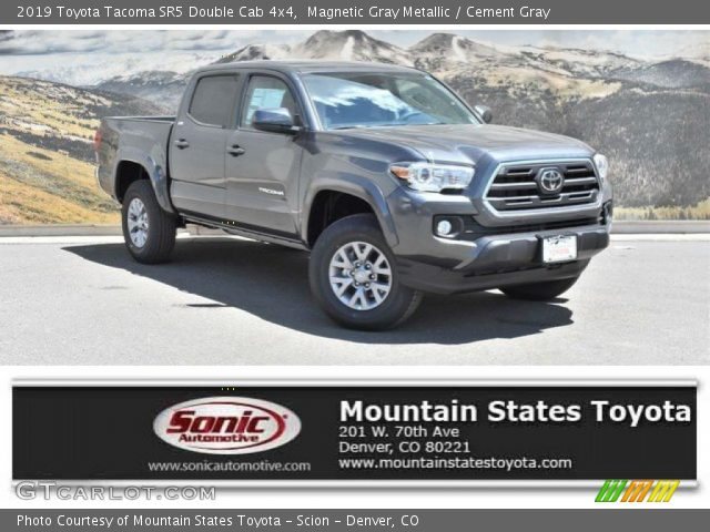 2019 Toyota Tacoma SR5 Double Cab 4x4 in Magnetic Gray Metallic