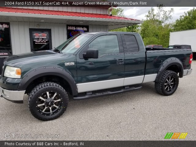 2004 Ford F150 XLT SuperCab 4x4 in Aspen Green Metallic