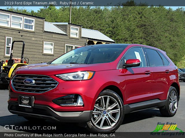 2019 Ford Edge Titanium AWD in Ruby Red