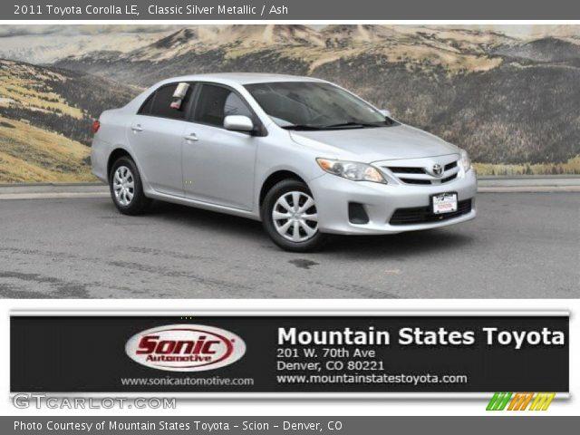 2011 Toyota Corolla LE in Classic Silver Metallic